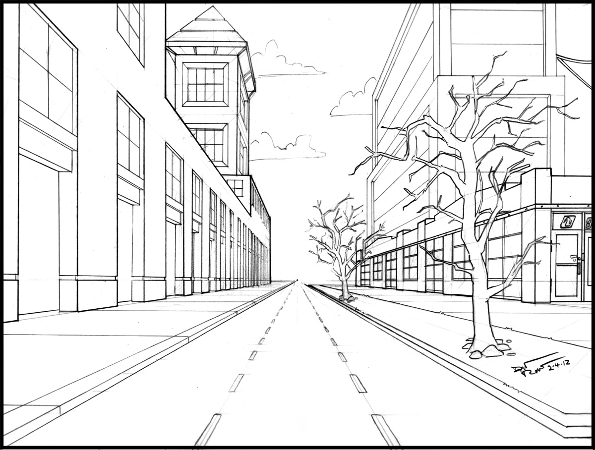 Cool One Point Perspective Drawings Click the one point