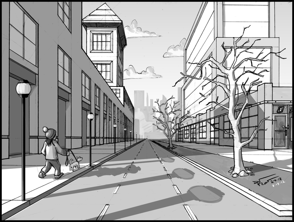 Cool One Point Perspective Drawings 1-point perspective drawing